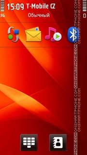 IPhone 4 Red Background theme screenshot