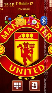 Manchester United Logo tema screenshot