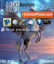 Flying Horse theme screenshot