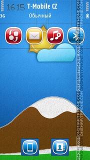 Stitched landscape theme screenshot