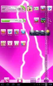 Pink Electro theme screenshot