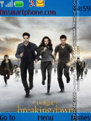The Twilight Saga: Breaking Dawn es el tema de pantalla