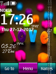 Nice Love Digital Clock theme screenshot