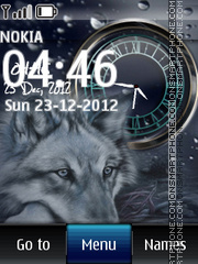 Wolf Dual Clock 01 theme screenshot