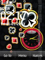 Cards Clock 01 es el tema de pantalla