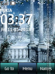 Winter And Snow Digital Clock theme screenshot