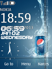 Pepsi Flash Clock theme screenshot