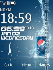Pepsi Flash Clock es el tema de pantalla