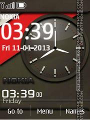 Скриншот темы Nokia Grey Dual Clock