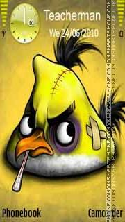 Yellow Angry Bird theme screenshot