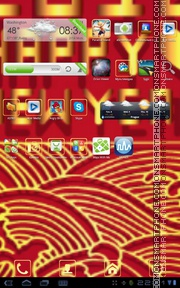 G NewYear tema screenshot