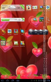 Fabulous Hearts tema screenshot