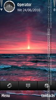 Purple Sunrise theme screenshot