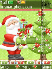 Santa Claus 08 tema screenshot