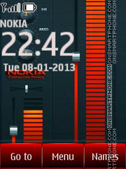 Nokia Music Player theme screenshot