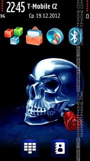 Skull vs rose theme screenshot