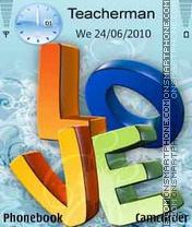 3D-Love theme screenshot