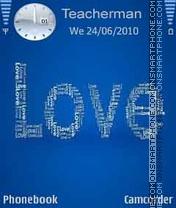 Скриншот темы Love Blue