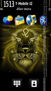 Lion black and gold es el tema de pantalla