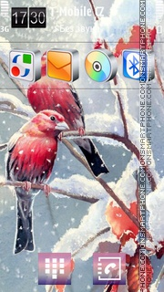 Bullfinches 01 theme screenshot