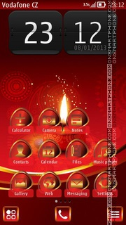 Light in Red theme screenshot