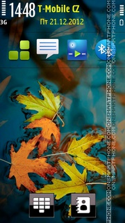 Autumn leaf 04 tema screenshot