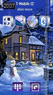 Snowman 12 theme screenshot