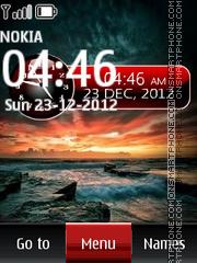 Sunset Dual Clock 02 es el tema de pantalla