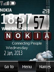 Nokia Digital Clock 04 theme screenshot