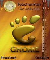 Gnome Gold theme screenshot