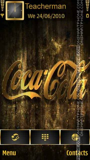 Coca Cola Gold theme screenshot