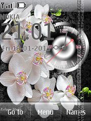 White Orchids theme screenshot