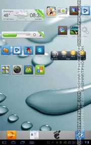 aPhone Theme GO Launcher EX theme screenshot