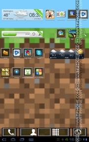 Minecraft theme screenshot