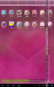 Pink Hearts 05 tema screenshot