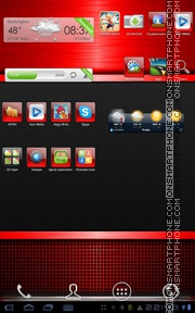 Red Gloss tema screenshot