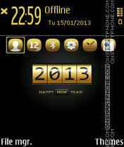 Gold 2013 theme screenshot