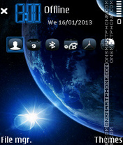 Planet Blue 01 theme screenshot