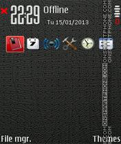Скриншот темы Black and Red 05