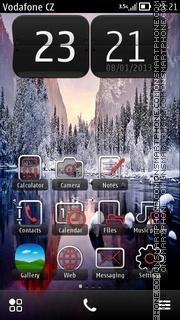 Snow Lake theme screenshot