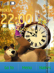 Masha and the Bear theme screenshot