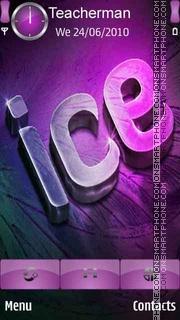 3D Ice Text es el tema de pantalla