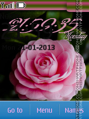 Pink Rose tema screenshot