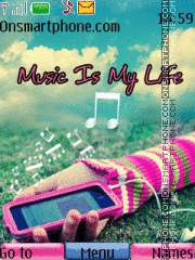 Music is my life 07 es el tema de pantalla