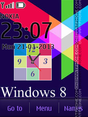 Vivid Windows 8 es el tema de pantalla