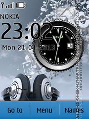 Best Headphones Clock es el tema de pantalla