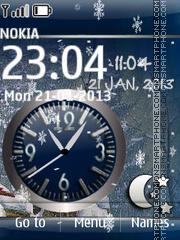 Animated Winter Dual Clock theme screenshot