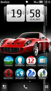 Red Maserati theme screenshot