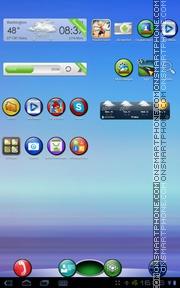 Скриншот темы XO Colorful Circles