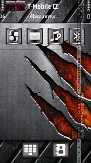 Скриншот темы Metal Scratch
